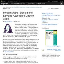 Modern Apps - Design and Develop Accessible Modern Apps