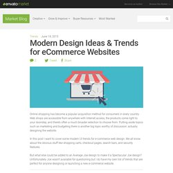 Modern UI Trends for Ecommerce Websites
