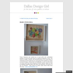 Modern Embroidery « Dallas Design Girl