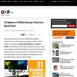 31 Modern HTML5 Demos That Can Beat Flash