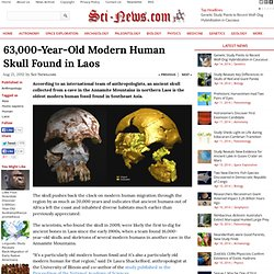 63,000-Year-Old Modern Human Skull Found in Laos