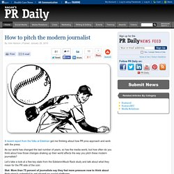 How to pitch the modern journalist