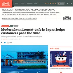 Modern laundromat-cafe in Japan helps customers pass the time