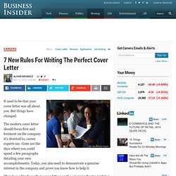 The New Rules Of The Modern Cover Letter