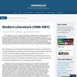 Modern Literature (1900-1961)