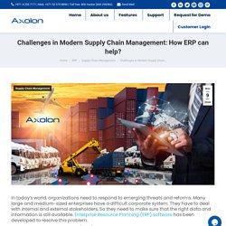 Modern Supply chain management challenges