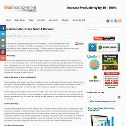 The Modern-Day Online Seller & Marketer