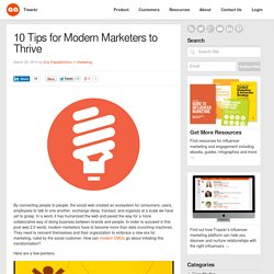 10 Tips for Modern Marketers to Thrive - Traackr