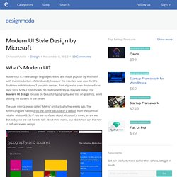 Modern UI Style Design by Microsoft