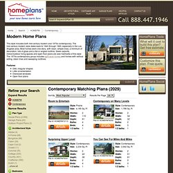 Modern Home Plans – Modern Home Designs from HomePlans.com