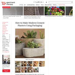 How to Make Modern Cement Planters Using Packaging
