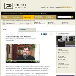 Modern Poetry with Al Filreis by The Editors