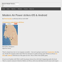 Modern Air Power strikes iOS & Android