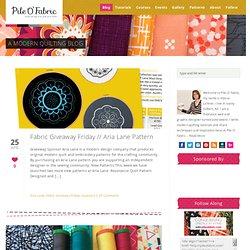 A Modern Quilting Blog » Pile O Fabric