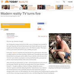 Modern reality TV turns five - today > entertainment - Reality TV