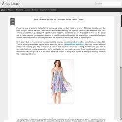 The Modern Rules of Leopard Print Maxi Dress