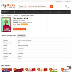 The Modern Monk by Hindol Sengupta, ISBN No. 9780143426646, Buy Online