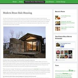 Modern Straw Bale Housing
