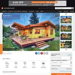 Modern Style House Plan - 2 Beds 1 Baths 800 Sq/Ft Plan #890-1 - Houseplans.com