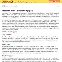 Modern Kueh Varieties in Singapore