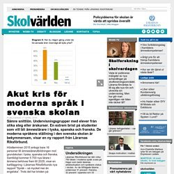 Akut kris för moderna språk i svenska skolan