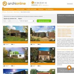 Plan de maison moderne container - Archionline