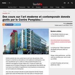 Des cours sur l'art moderne et contemporain donnés gratis par le Centre Pompidou !