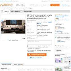 2014 Moderne de mode en cuir canapé a été faite de cadre en bois massif et éponge à haute densité et cuir-Canapé salon-Id du produit:500002055900-french.alibaba.com