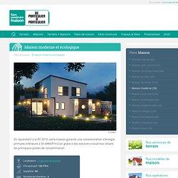 Maison moderne et écologique - Détail du plan de Maison moderne et écologique