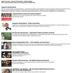 Jugend in Deutschland - Jugend erforscht-Goethe-Institut