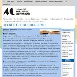Licence Lettres Modernes