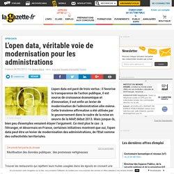 L'open data, véritable voie de modernisation pour les administrations