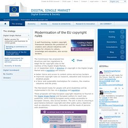 Modernisation of the EU copyright rules
