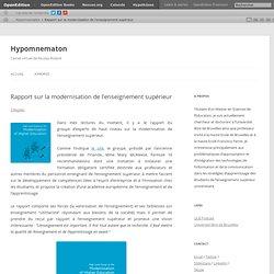 Hypomnematon – Rapport sur la modernisation de l'enseignement supérieur