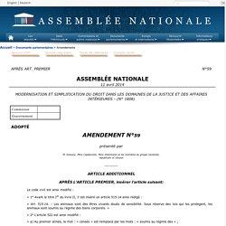 MODERNISATION ET SIMPLIFICATION DU DROIT DANS LES DOMAINES DE LA JUSTICE ET DES AFFAIRES INTÉRIEURES (no 1808) - Amendement no 59