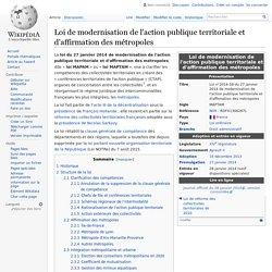 Loi de modernisation de l'action publique territoriale et d'affirmation des métropoles