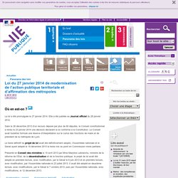 Loi MAPAM sur vie-publique.fr