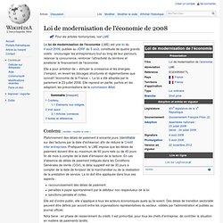 LME - Loi de modernisation de l'économie