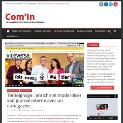 Moderniser sa communication interne avec un e-magazine