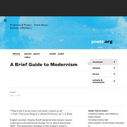 A Brief Guide to Modernism