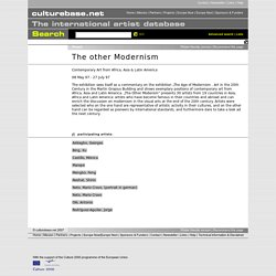 The other Modernism, House of World Culture - culturebase.net