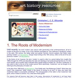 Modernism: The Roots of Modernism