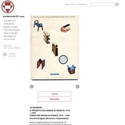 RASSEGNA 26: IL PROGETTO DEL MOBILE IN FRANCIA, 1919 – 1939 / FURNITURE DESIGN IN FRANCE, 1919 – 1939, 1986.