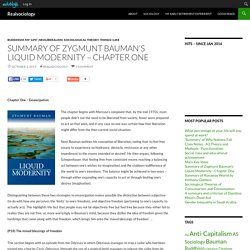 Summary of Zygmunt Bauman's Liquid Modernity – Chapter One