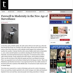 Farewell to Modernity in the New Age of Surveillance