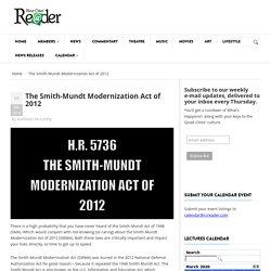 The Smith-Mundt Modernization Act of 2012