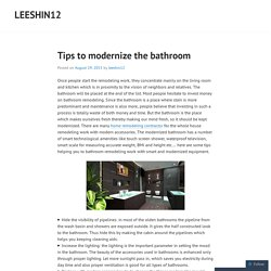 Tips to modernize the bathroom