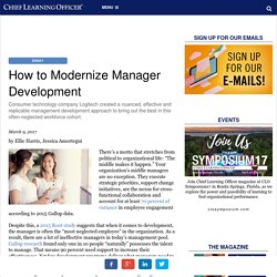 How to Modernize Manager Development