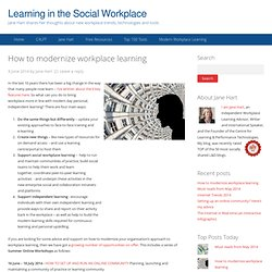 How to modernize workplace learning