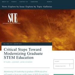 Critical Steps Toward Modernizing Graduate STEM Education